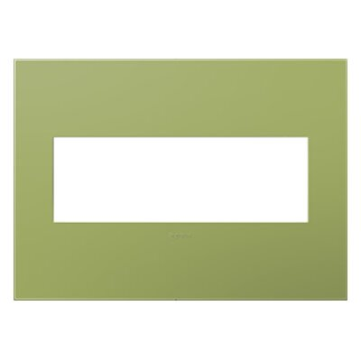adorne 3-Gang Wall Plate Finish: Lichen Green