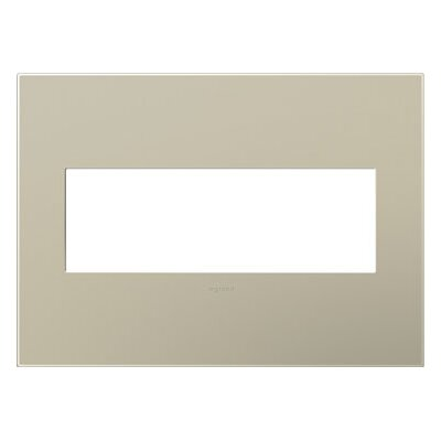 adorne 3-Gang Wall Plate Finish: Titanium