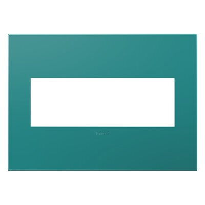 adorne 3-Gang Wall Plate Finish: Turquoise Blue