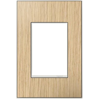 adorne 1-Gang, 3-Module Wall Plate Finish: French Oak