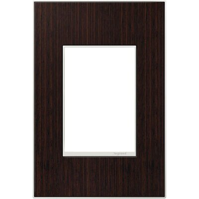 adorne 1-Gang, 3-Module Wall Plate Finish: Wenge Wood