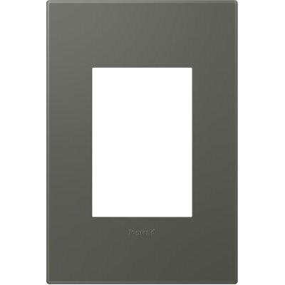 adorne 1-Gang, 3-Module Wall Plate Finish: Moss Grey
