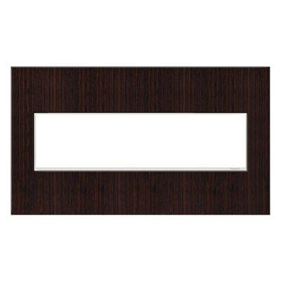 adorne 4-Gang Wall Plate Finish: Wenge Wood