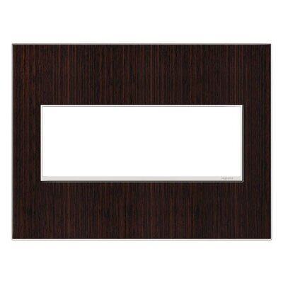 adorne 3-Gang Wall Plate Finish: Wenge Wood