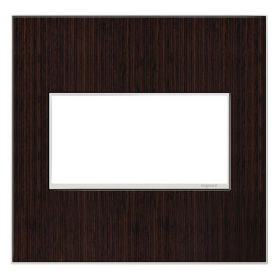 adorne 2-Gang Wall Plate Finish: Wenge Wood