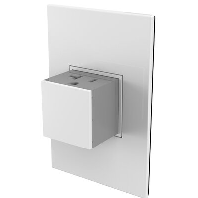 Adorne� Wall Mounted Outlets Finish: White