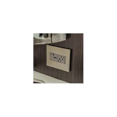 adorne Wall Mounted Outlet Cover Finish: Gloss White