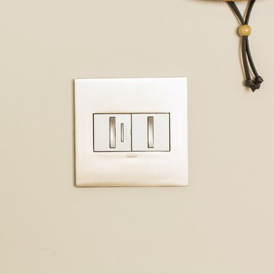 Adorne Whisper Light Switches Finish: Magnesium