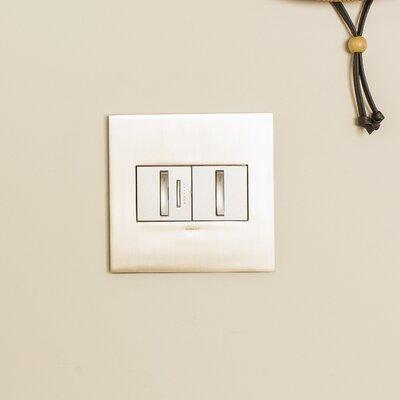 Adorne Whisper Light Switches Finish: Magnesium