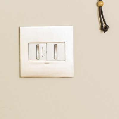 adorne 2-Gang Wall Plate Finish: Brushed Brass
