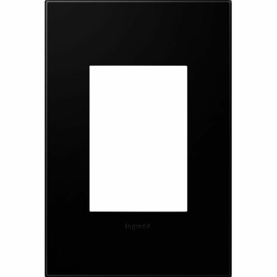 adorne 1-Gang, 3-Module Wall Plate Finish: Black Ink