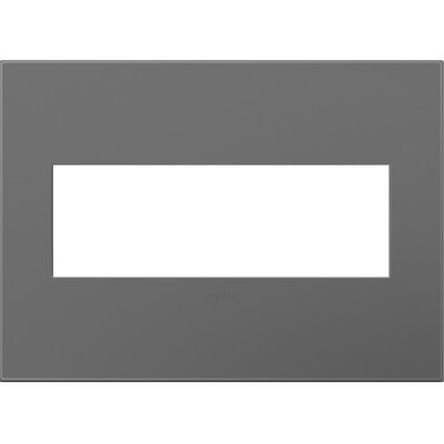 adorne 3-Gang Wall Plate Finish: Magnesium
