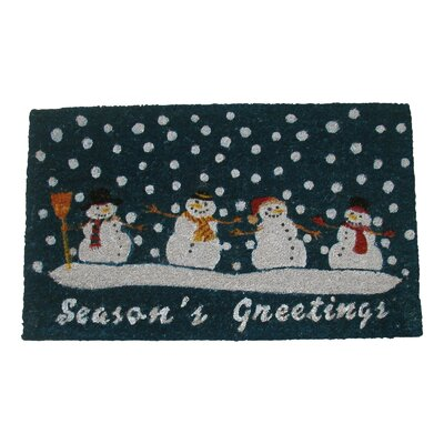 Seasons Greetings Doormat Rug Size: Rectangle 18 x 30