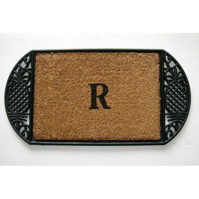 Tuffcor with Border Doormat Mat Size: Oval 18x 36