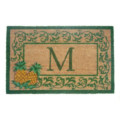 Aloha Scroll Monogrammed Doormat