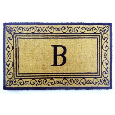 Imperial Brasilia Scroll Monogrammed Doormat