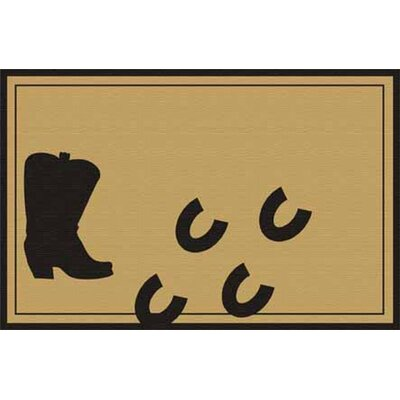 Boot with Hoof Prints Doormat