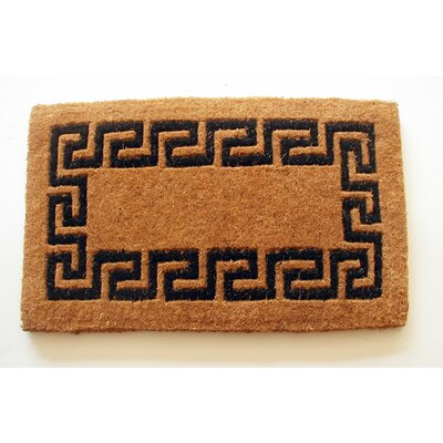 Imperial Greek Key Doormat Rug Size: Rectangle 16 x 26, Color: Black