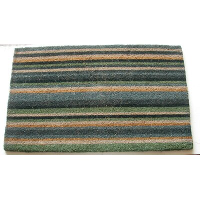 Striped Doormat Color: Blue, Rug Size: 26 x 4