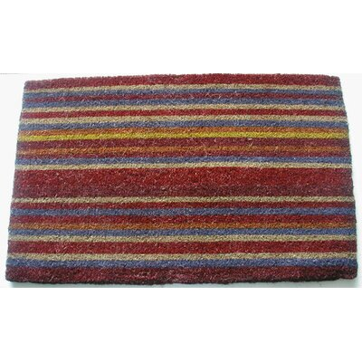 Dublin Striped Doormat Mat Size: Rectangle 16 x 26, Color: Red