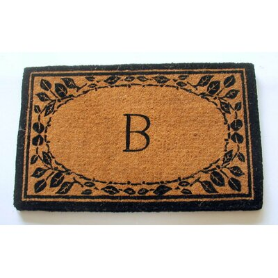 Imperial Border Monogram Doormat Rug Size: Rectangle 2 x 33