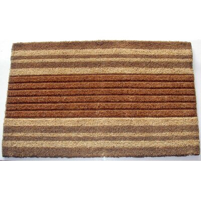 Striped Doormat Rug Size: 1'6 x 2'6