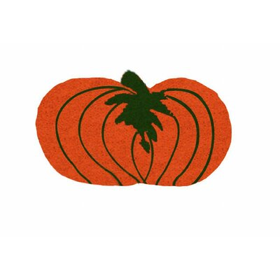 Pumpkin Shaped Doormat