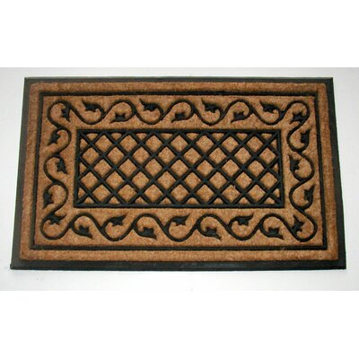 Lattice Border Doormat Rug Size: 16 x 26