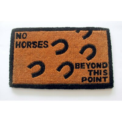 No Horses Beyond this Point Doormat