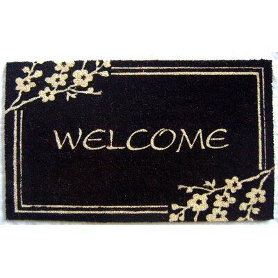 Mocha Floral Welcome Mat