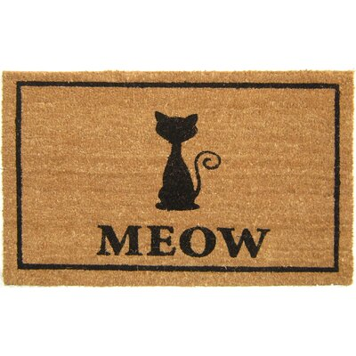Geo Crafts Meow Doormat