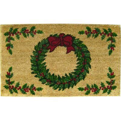 Christmas Wreath Doormat