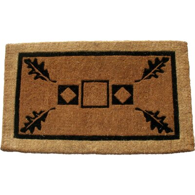 Leaf Doormat Mat Size: Rectangle 26 x 4