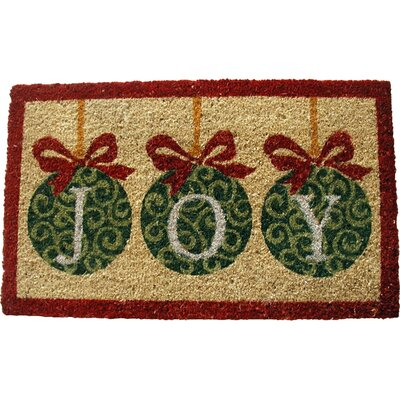 Joy with Ornaments Doormat