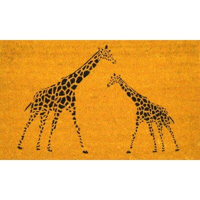 PVC Bleach Giraffe Doormat