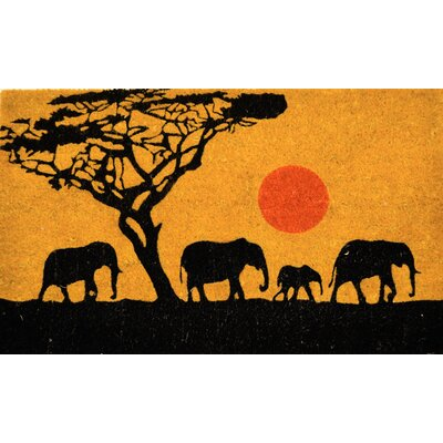 PVC Bleach 4 Elephants Doormat