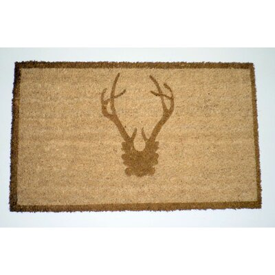 Antler Doormat Rug Size: Rectangle 16 x 26, Color: Bronze