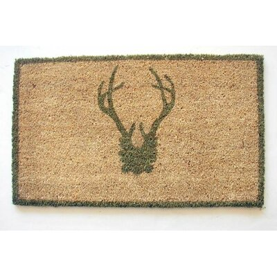 Antler Doormat Mat Size: Rectangle 16 x 26, Color: Sage