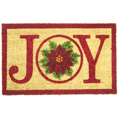 Joy Pointsettia Doormat