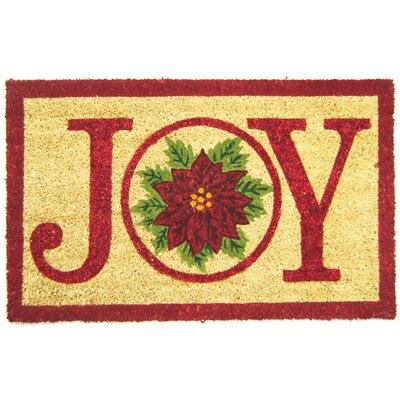 Joy Pointsettia Doormat