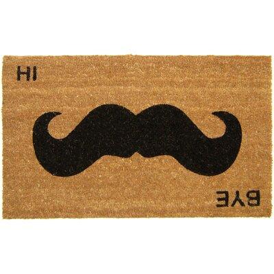 Mustache Hi Bye Doormat