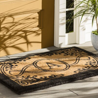 Straub Monogram Rectangle Doormat