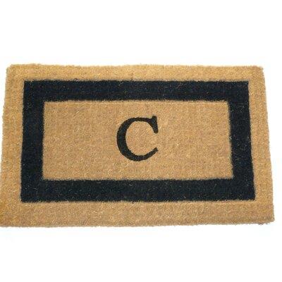 Straub Monogram Fiber Doormat