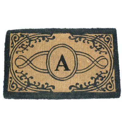 """Geo Crafts Imperial Bristol Printed Monogram Golden Doormat - Size: 24"""" x 39"""", Letter: A at Sears.com"""