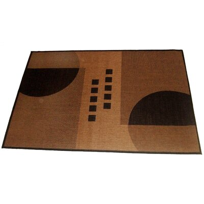 Geometrix Beige Indoor/Outdoor Area Rug Rug Size: 5 x 8