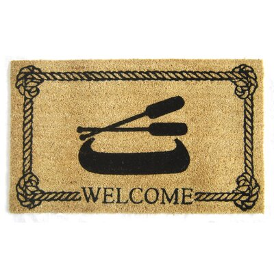 Willet Nautical Boat and Oars Doormat