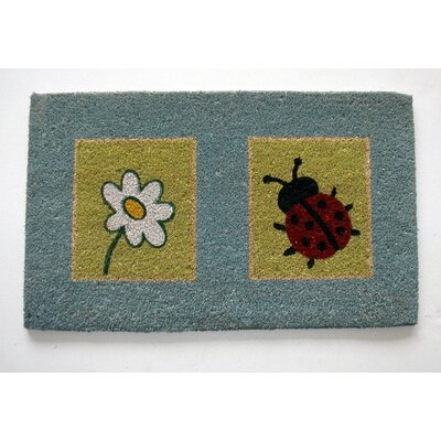 Perkins Lady Bug and Flower Doormat