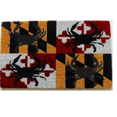 Bertrand All Over Maryland Flag with Crab Doormat
