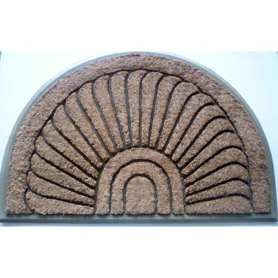 Ashworth Tuffcor Sunburst Doormat Size: 30 x 48, Color: Beige Rubber Trim