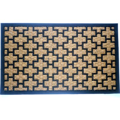 Simcox Cross Doormat Mat Size: Rectangle 18 x 30